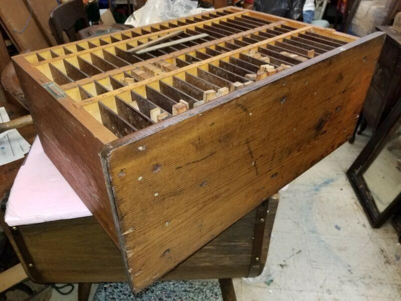 Unique Hamilton Mfg CO Letterpress Furniture Cabinet Wood Printing Spacer Shim