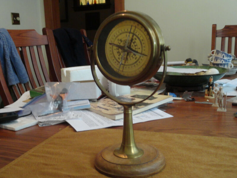 Beautiful Antique mounted Compass  for the mantel!