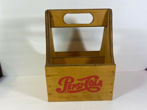 Vintage Wooden Wood Pepsi Cola 6  Carrier Carton Bottle Holder        r58