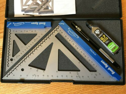 """iGaging Bench Square Set 4"""" & 7"""" Stainless Steel Precision 16th & 32nd Scales"""