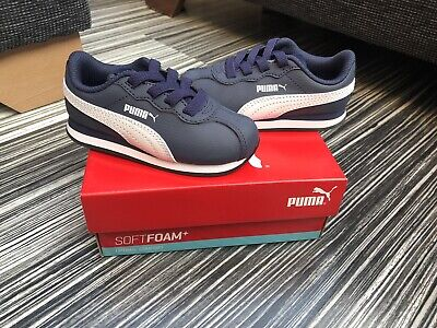 BN Boy's Puma White Trainers UK Infant Size 7 RRP £35