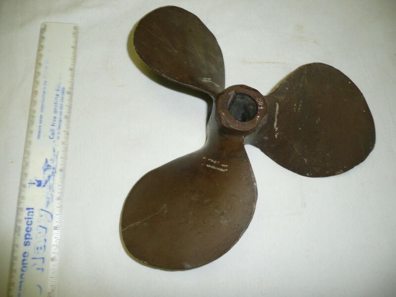 11  INCH BRASS BRONZE PROP PROPELLER FOR BOAT SHIP MARITIME NUMBERED 591