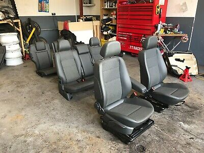 VAUXHALL ZAFIRA B HALF LEATHER SEATS FULL SET WITH DOOR CARDS    2005 - 2014