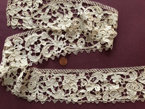 Gros Point needle lace long border COLLECTOR