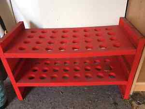 4 tiers of Shoe racks Red and Blue (his and hers) Willoughby Willoughby Area Preview