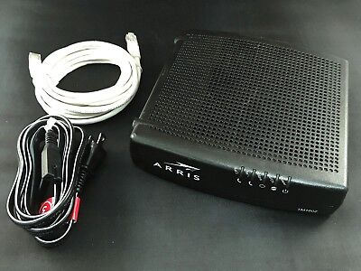Arris Tm1602a Cable Modem Docsis 3 0 16X4 Telephony Modem With Power Cord