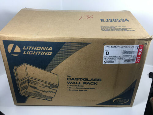 LITHONIA LIGHTING Wall Pack Glass Light TWH-400M-277-SCWA-PE-LPI 277 Volt New