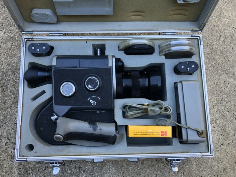 Canon Scoopic 16mm Movie Camera With Accessories, Batteries, Case