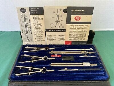 Vintage / Antique Post Designmaster – 1146C Drawing Instrument Set & Case Made I
