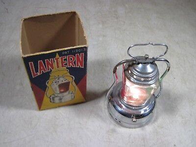 Vintage 1950's 60's Elvin Battery Op Auto Warning Camping Emergency Lantern AAA ()