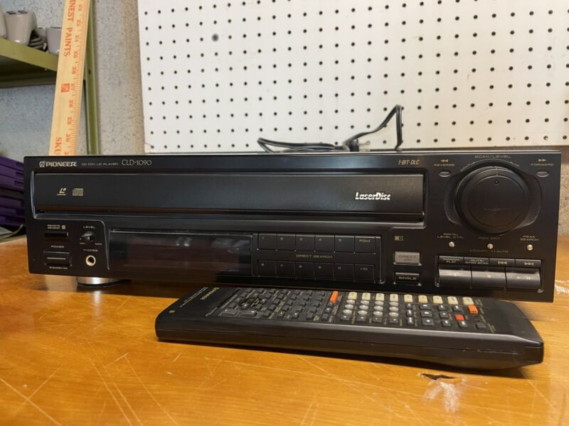 RARE PIONEER CLD-1090 LASERDISC PLAYER BUNDLE WITH REMOTE. Fully Tested Working!