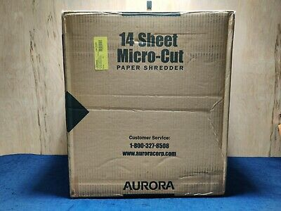 Micro Cut 14 Sheet Auto Reverse Paper Shredder Read Desc