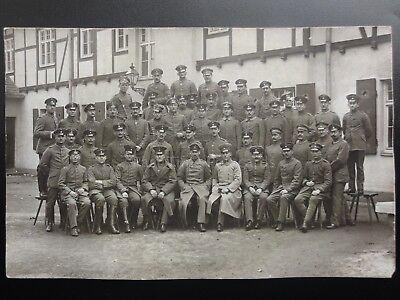 Military: German Soldiers Group Portrait Photograph c1912 Postcard