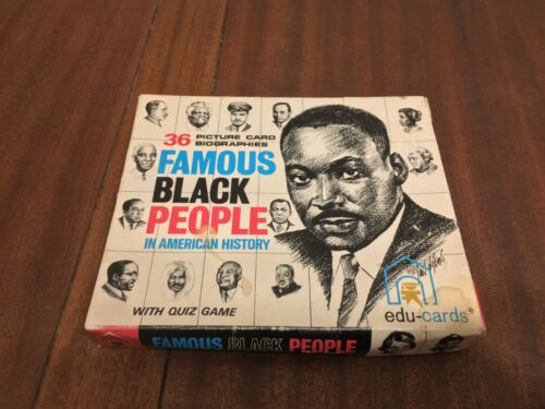 36 Picture Card Biographies: Famous Black People in American History (1970)