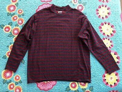 LABO.ART Black Wool Stretch Long Sleeve Top Size 1 New