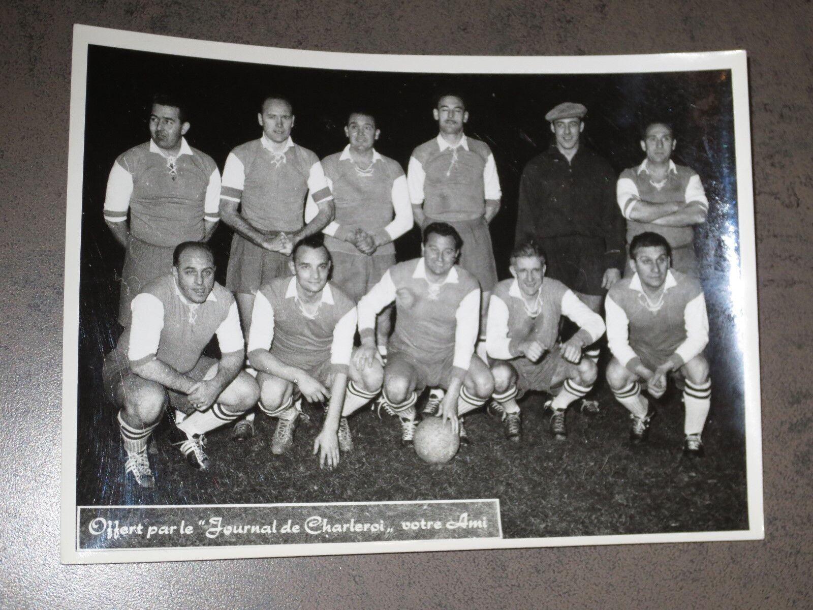 Football Belge Photographie Press ancienne Rare 13 cm sur 17 cm - RSCA