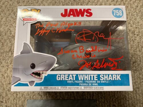 Funko Pop Cast Signed Jaws Shark Susan, Richard, Joe, Jeffrey Autograph JSA COA