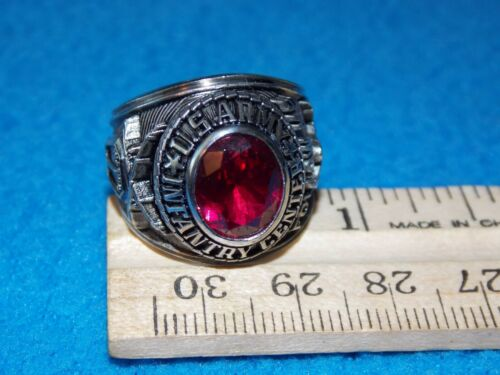 VINTAGE - U.S.ARMY RING - SIZE 8.5 - FOLLOW ME - NOS - LIFE TIME ALPHA BRAND