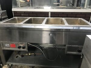 4 well  hot /steam table .