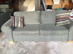 Matching couch and loveseat. Free to a good home