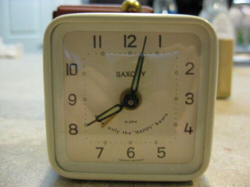 Vintage NOS Saxony German alarm clock