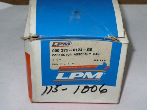 LPM 375-6124-GE Contactor, 24 Volt, New
