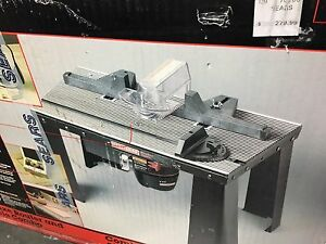 Brand New Craftsman Router and Table with Router bits