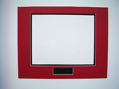 Picture Frame Double Mat 11x14 for 8x10 photo Red with Black liner