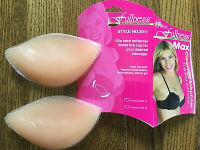 WOMEN'S FULLNESS MAX SILICONE PUSH UP BRA CLEAVAGE ENHANCER PADS STYLE #2011