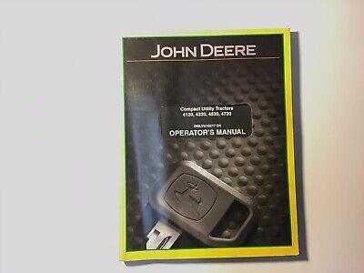John Deere 4120 4320 4520 4720 Compact Utility Tractors Operators Manual S 19j