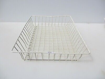 Retro Wire Paper Tray Desk Tidy Office Holder Old Late Vintage School Reception