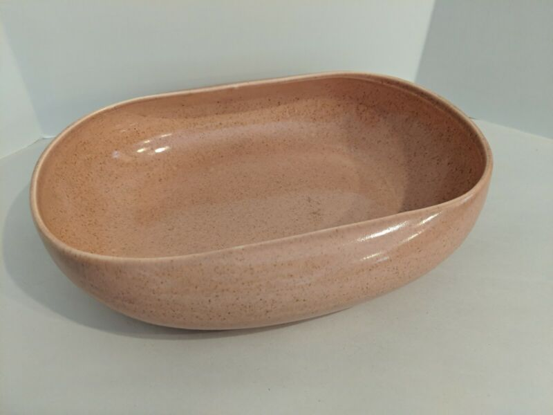 MCM Russel Wright American Modern Coral Oval Vegetable Bowl