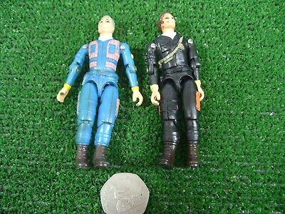 2 x VINTAGE THE A TEAM HANNIBAL & FACE ACTION FIGURES 1983 GALOOB **3.75""