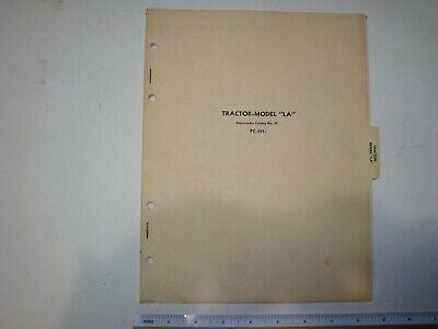 John Deere Model La Tractor Parts Catalog Manual Book Pc-151 Original