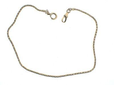 """Vintage UNBRANDED Snake Gold Filled POCKET WATCH CHAIN nice 13 1/2"""""""