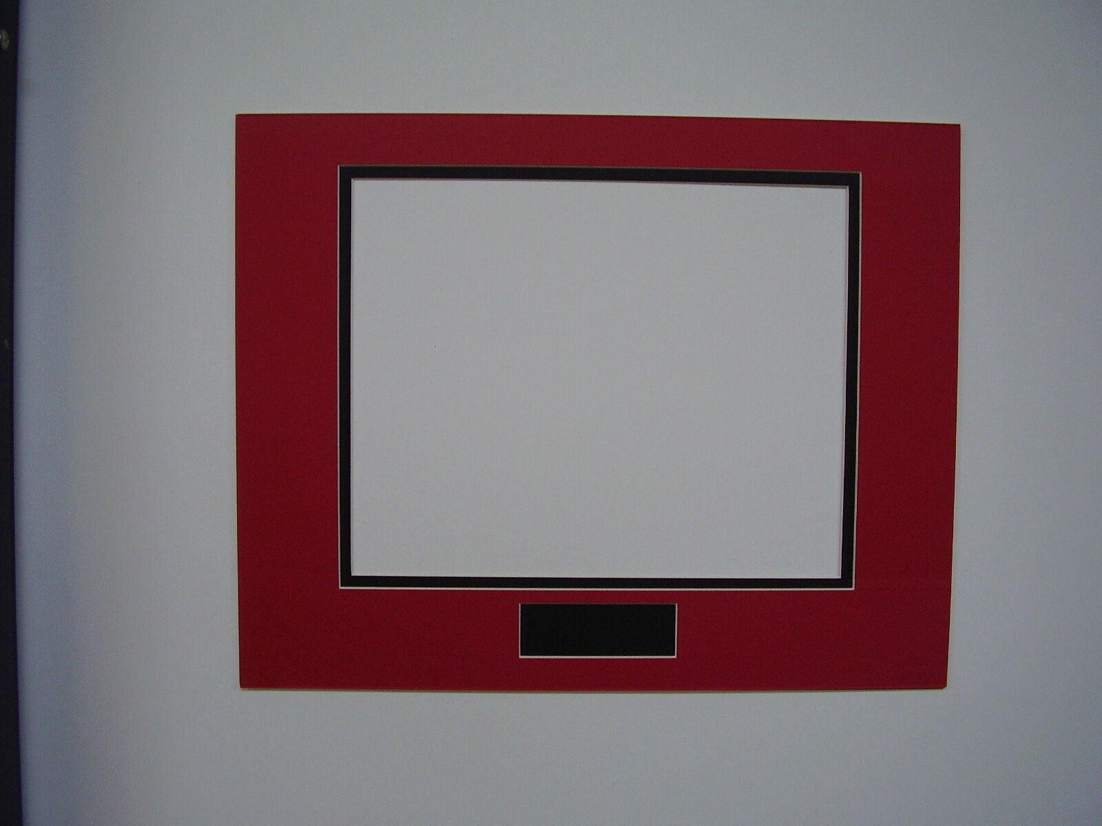 PICTURE FRAME DOUBLE Mat 11x14 for 8x10 photo Red with Black liner ...