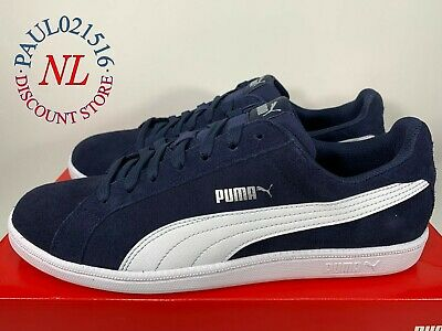 PUMA Men's Smash Suede Men's Sports Athletic Running Walking ~ Navy ! !