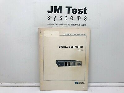 Hp Digital Voltmeter 3456a Operating Manual Br