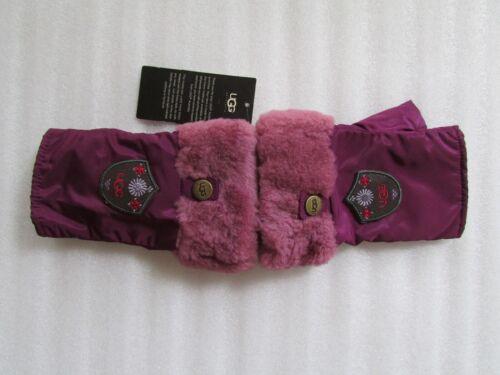UGG Gloves Fontanne Fingerless Shearling Cuff Sugar Plum S/M