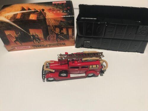 Matchbox Models Of Yesteryear YFE03 1933 Cadillac Fire Wagon - NIB  - $19.95