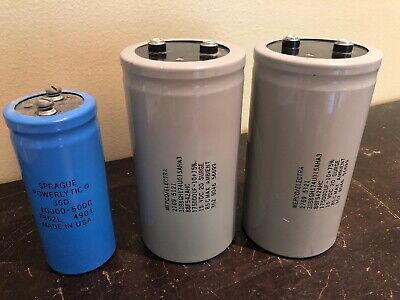 Vintage Capacitor Lot Sprague Mepcoelectra