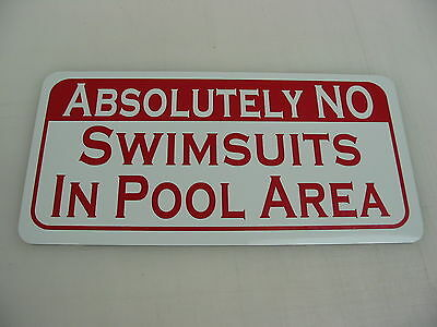 No Swimsuits Metal Sign 4 Home Swimming Pool Table Bar Hall Frat Skinny Dipping - Skinny Bar Table