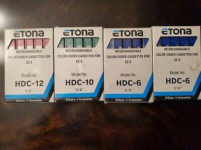 Etona EC-3 Staples HDC-12 Interchangeable Color Coded Cassettes 12mm Red