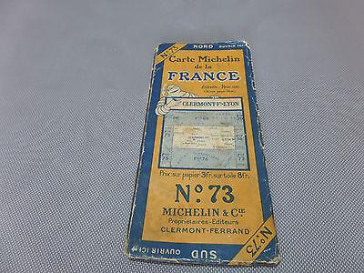 Card Michelin #73 Clermont Ferrand-Lyon 1925/Collector Bibendum Vintage