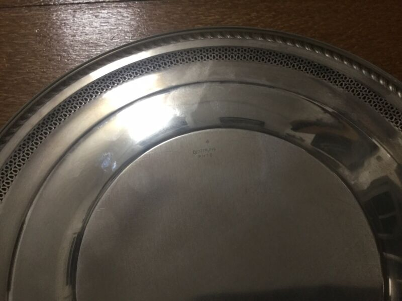 Watrous Sterling Silver Tray Reticulated