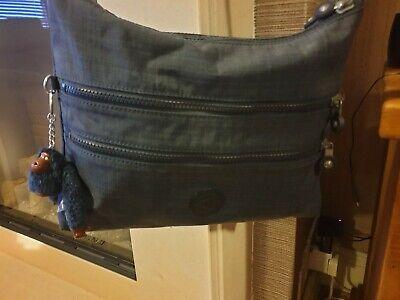 Kipling Alvar medium cross body bag blue