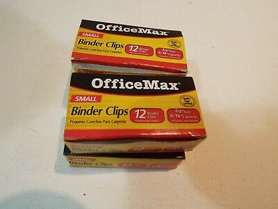 Lot Of 4 Boxes 34 Binder Clips Small 46 Count Office Max Free Shipping