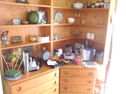 Corner cabinet set