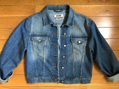 ACNE STUDIOS Tram Jean Denim Jacket Used Vintage Oversize 34 XS S 0 2
