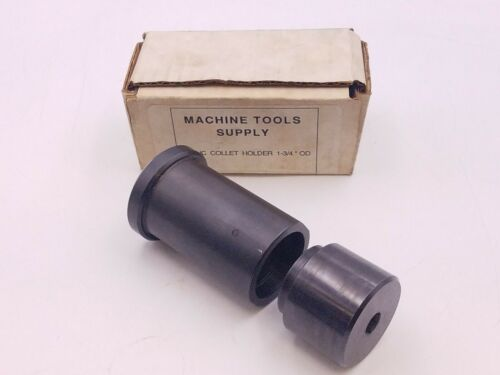 "Machine Tools Supply 5C NC Collet Holder 1-3/4"" OD Steel Milling Lathe Tool NOS"